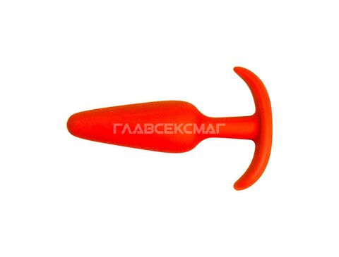 Оранжевая анальная пробка из силикона - 10 см.