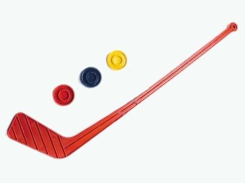 Набор хокк. детск.: 1 клюшка +3 шайбы (пластм., цв. в ас-те).