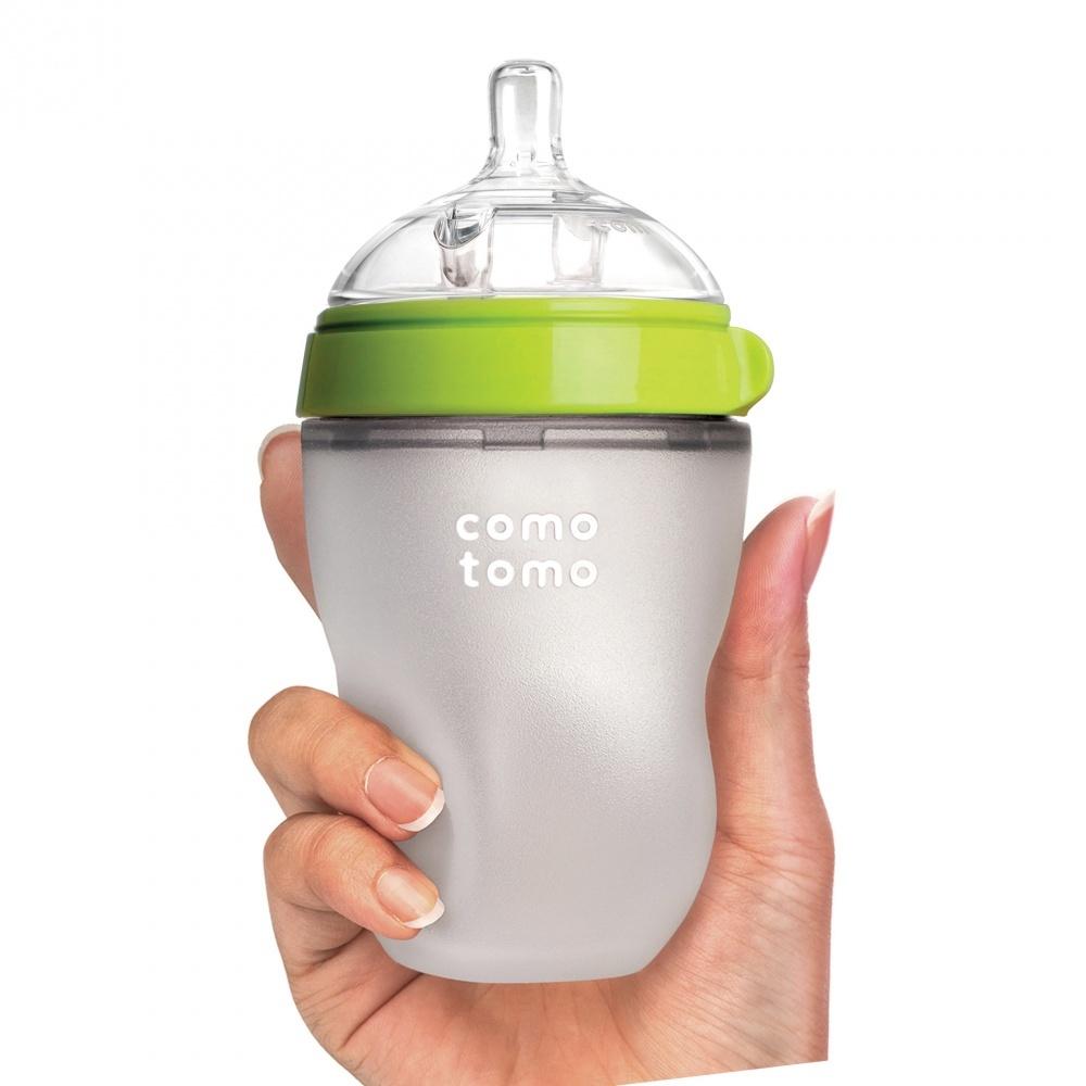 Бутылочка для кормления, цвет зеленый (250 мл.) Comotomo Natural Feel Baby Bottle
