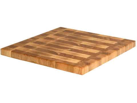 деревянная Торцевая разделочная доска 30х30х2 см ясень