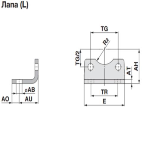 L5032  Крепление-лапы (2 шт.), сталь