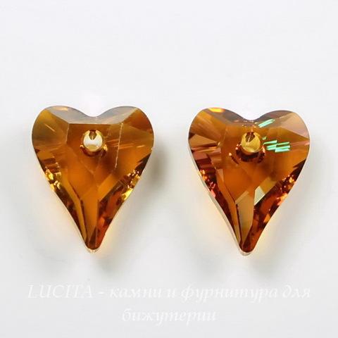 6240 Подвеска Сваровски Сердечко Wild Heart Crystal Copper (12 мм) ()