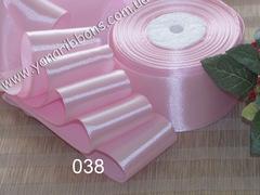 Лента атласная шириной 5см розовая - 038