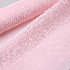 Гофрированная бумага однотонная. Цвет 569 бело-розовый, 180 г