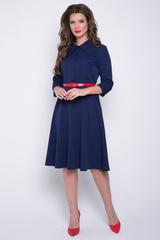 """<p>.Модное платье Сафари подчеркивает женственность и делает Ваш образ привлекательным. Отрезное по талии, юбка полусонце, сбоку замок, рукав 3/4, по переду планка на пуговицах, отложной ворот, модные клапаны.&nbsp;<span>Ремень можно приобрести в разделе """"аксессуары"""". (Длины: 44-46=103см; 48-50=104см; 52=105см)&nbsp;</span></p>"""