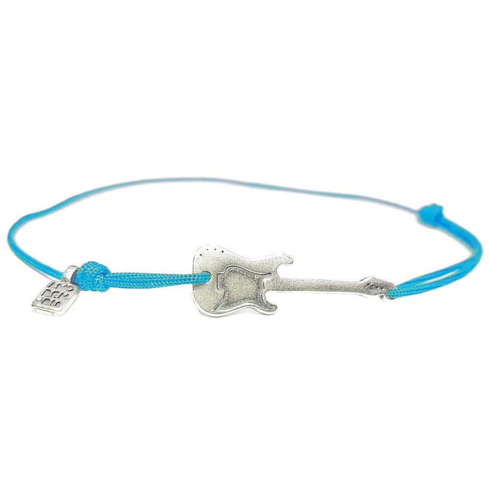 Guitar bracelet, sterling silver