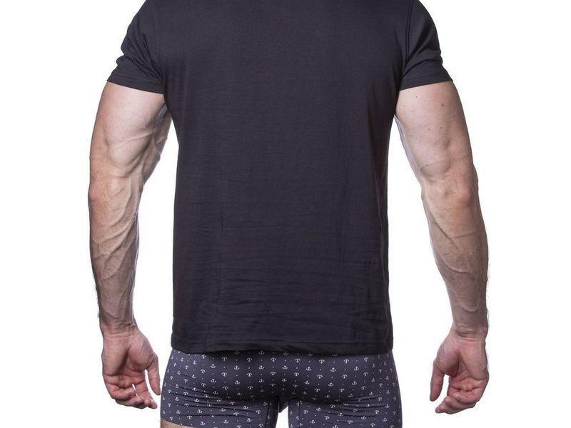 Мужская футболка черная Sergio Dallini SDT760-2