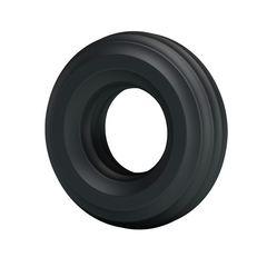Чёрное широкое эрекционное кольцо -