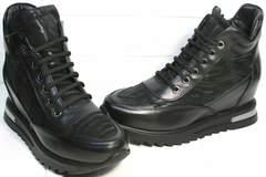 Черные кожаные ботильоны Evromoda 965 Black