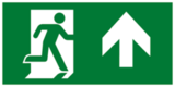 Е38 Направление к эвакуационному выходу прямо - современный эвакуационный знак