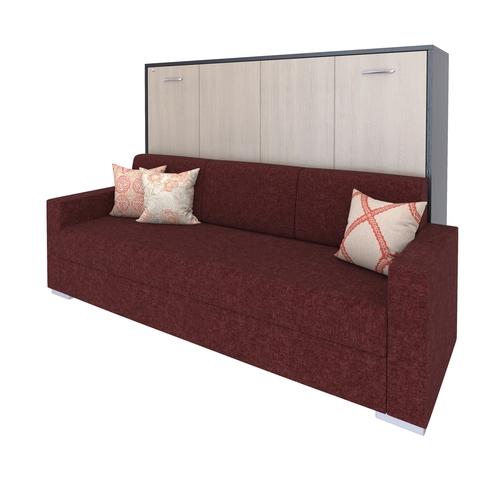 Шкаф-кровать с диваном горизонтальная полутороспальная 120 см