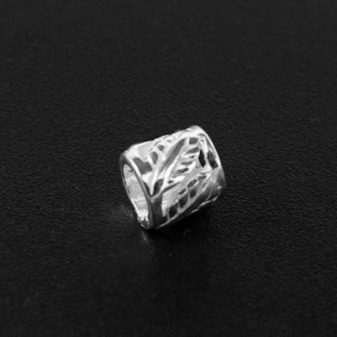 Бусина Окленд 5х5 мм серебро 925