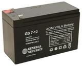 Аккумулятор General Security GS 7,2-12 ( GS12-7.2 ) ( 12V 7,2Ah / 12В 7,2Ач ) - фотография