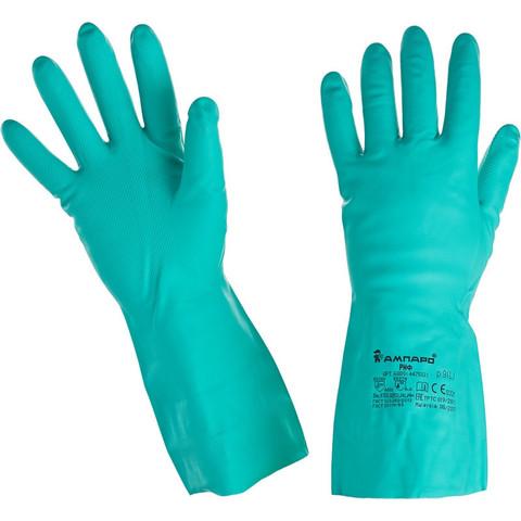 Перчатки Ампаро Риф 447513 из нитрила зеленые (размер 9, L)