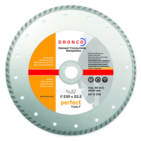 Алмазный диск Dronco PERFECT TURBO F 230 мм