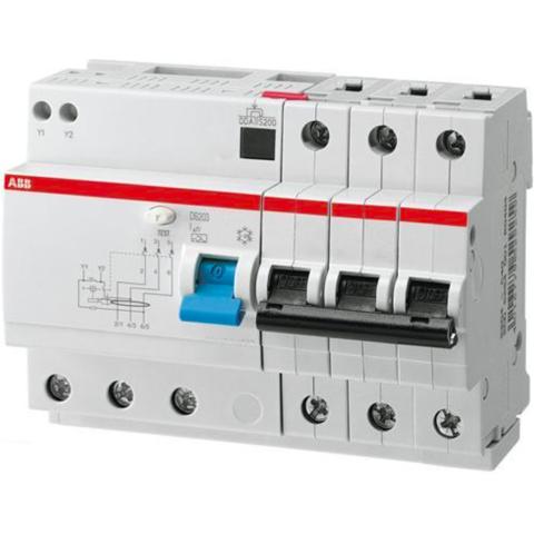 Дифф. автомат. выключатель 3-полюсный 13 А, тип A, 10 кА DS203 M A-B13/0,03. ABB. 2CSR273101R1135