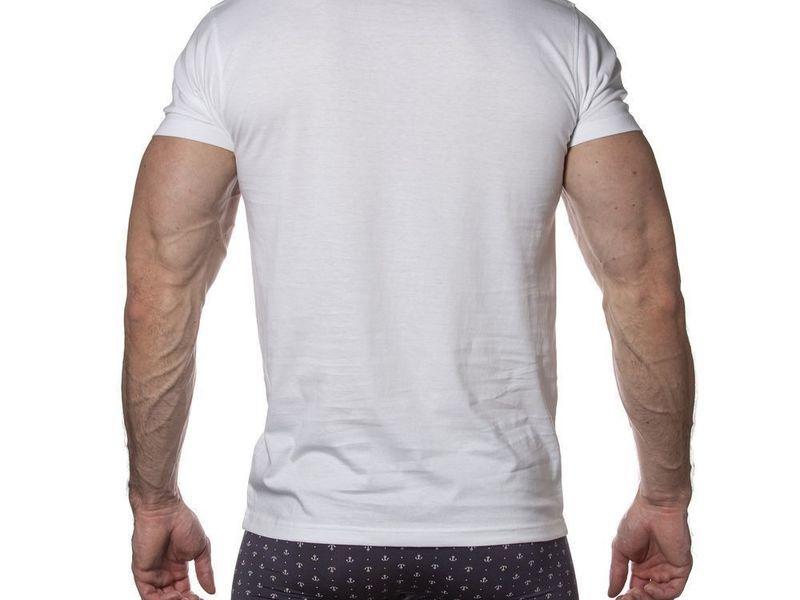 Мужская футболка белая Sergio Dallini SDT760-1