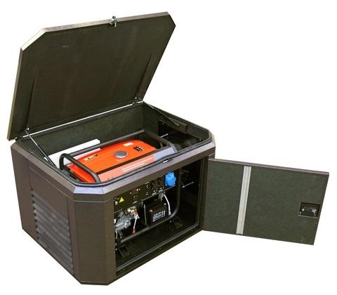 Готовый комплект аварийного питания на 6 кВт бензиновый генератор FUBAG BS6600A ES в еврокожухе SB1200 с АВР (блоком автоматического ввода резерва)