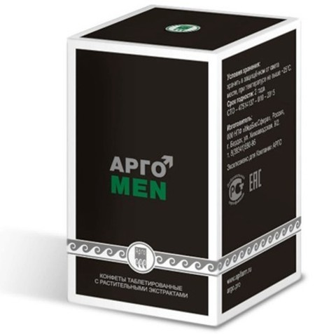 Конфеты таблетированные с растительными экстрактами АргоMEN
