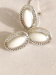 Шарлота (кольцо + серьги из серебра)