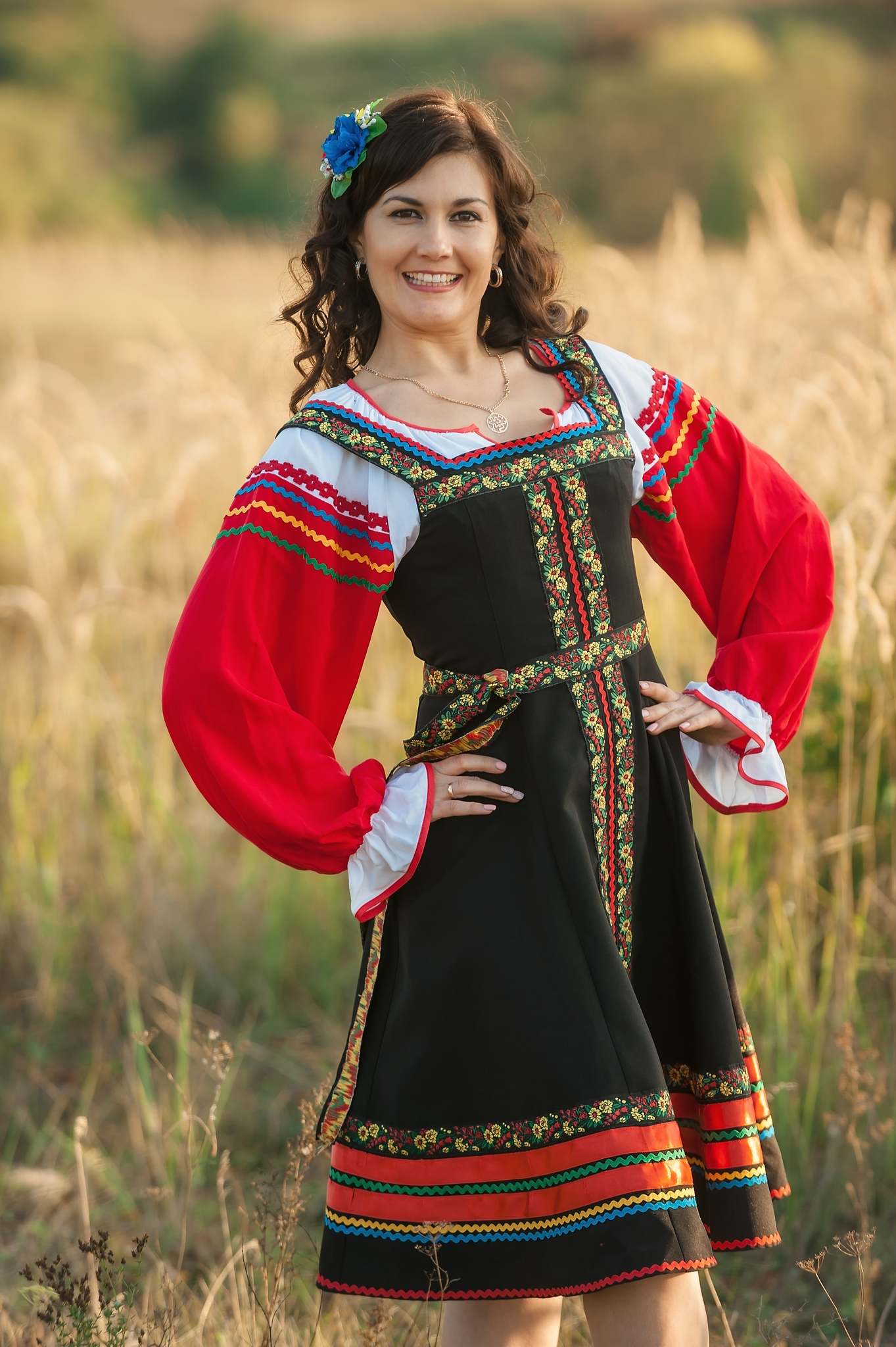 Русский народный костюм Черная смородина