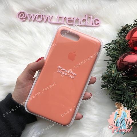 Чехол iPhone 7/8 Silicone Case /peach/ персик original quality