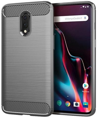 Чехол OnePlus 7 цвет Gray (серый), серия Carbon, Caseport