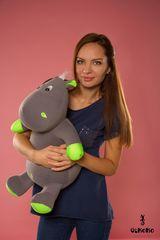 Подушка-игрушка антистресс «Бегемот Няша», зеленый 2