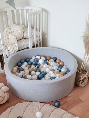 Сухой бассейн серый 100/30см  Anlipool комплект Metallic blue