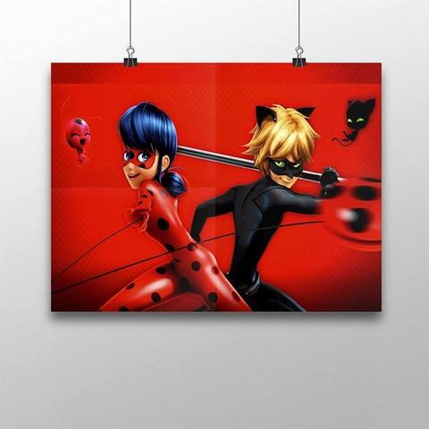Плакат с Леди Баг и Супер Котом №1
