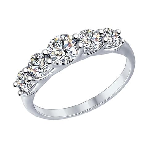 89010041-Кольцо из серебра со SWAROVSKI