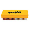 Картинка щетка Toko ручная, комбинированная, нейлон + медь, 14 мм