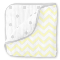 Одеяло Luxe Muslin Pale Yellow Chevron