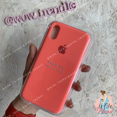 Чехол iPhone X/XS Silicone Case /coral/ коралл 1:1