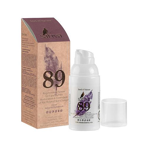 Сыворотка регенерирующая №89, для коррекции возрастных изменений кожи Sativa, 30 мл