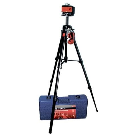 Уровень лазерный, 100 мм, штатив 1300 мм, крутящ. голова ротац, набор в пласт.кейсе Matrix Master