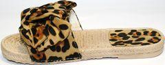 Шлепки кожа Small Swan mm26-5Leopard.