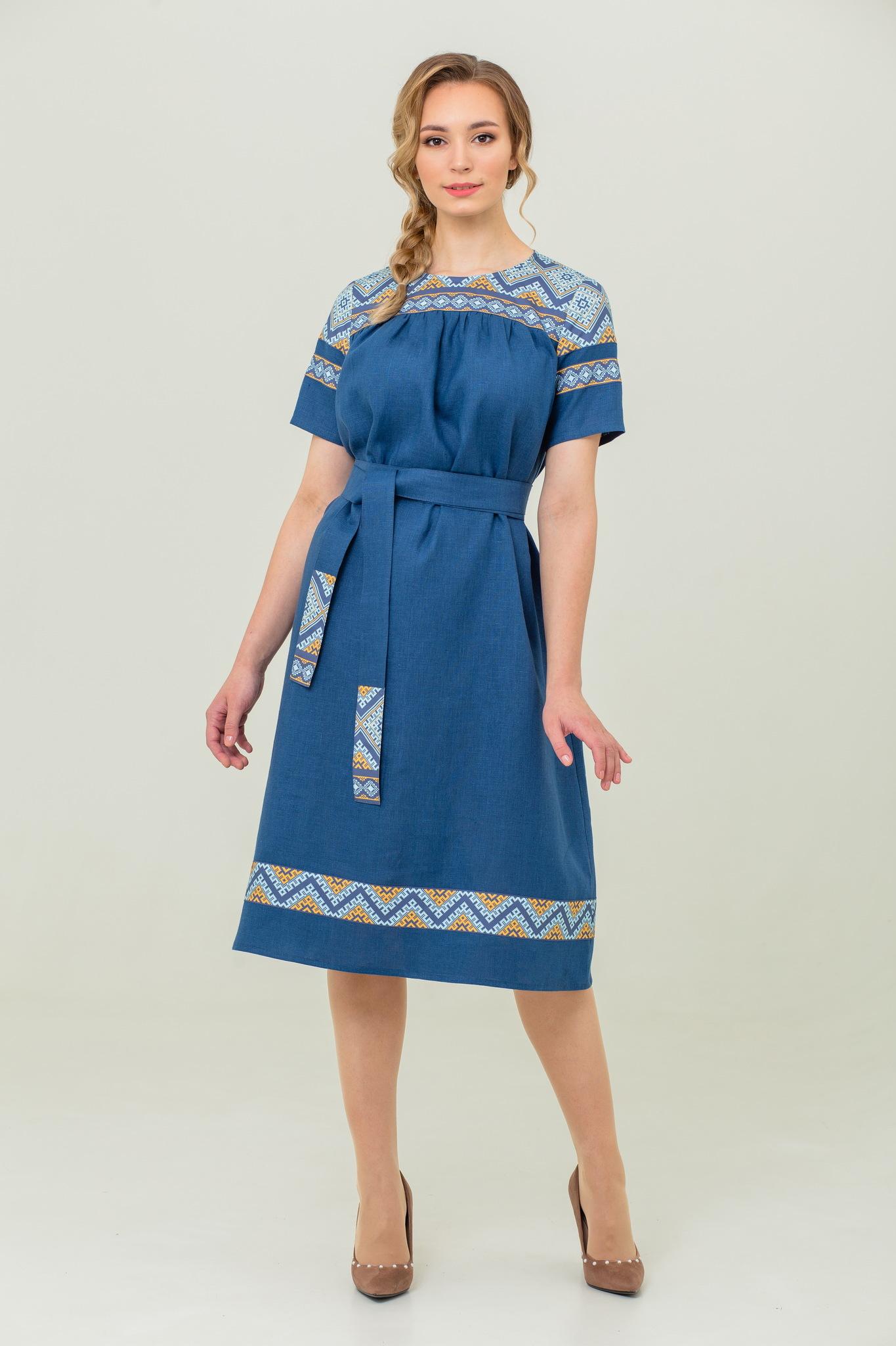 платье льняное Каспийское миди