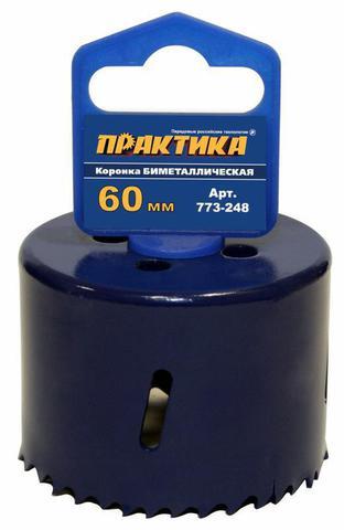 Коронка биметаллическая ПРАКТИКА  60 мм (2 3/8