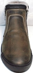 Теплые ботинки на зиму мужские Rifellini Rovigo 046 Brown Black.