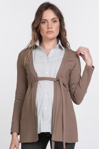 Джемпер-обманка для беременных 11391 коричневый