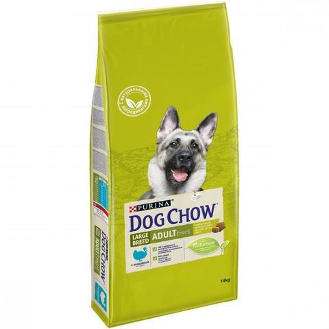 Dog Chow Adult Large Breed для взрослых собак крупных пород с индейкой