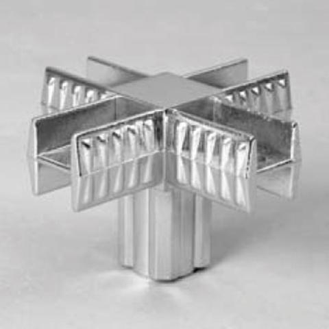 905 - ch Крепеж 5-х плечий для кв. трубы.(3/Соеди)