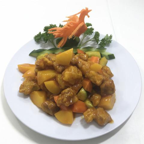 Свинина с персиками黄桃肉