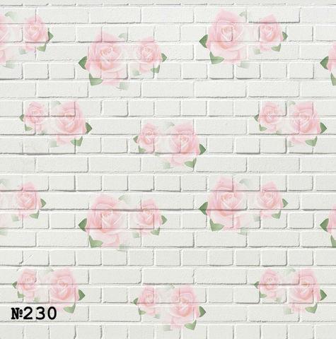 Фотофон виниловый «Розы на кирпичной стене» №230
