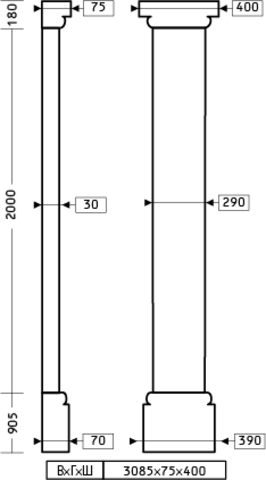 Пилястра 1.20.101