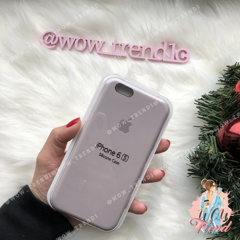 Чехол iPhone 6/6s Silicone Case /lavender/ лаванда original quality