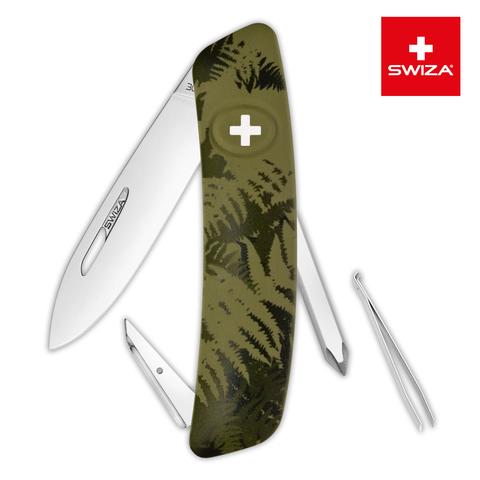 Швейцарский нож Swiza  (KNI.0020.2050) C02 Camouflage 95 мм 6 функций хаки
