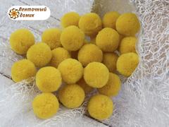 Помпоны кашемировые горчичные 20 мм