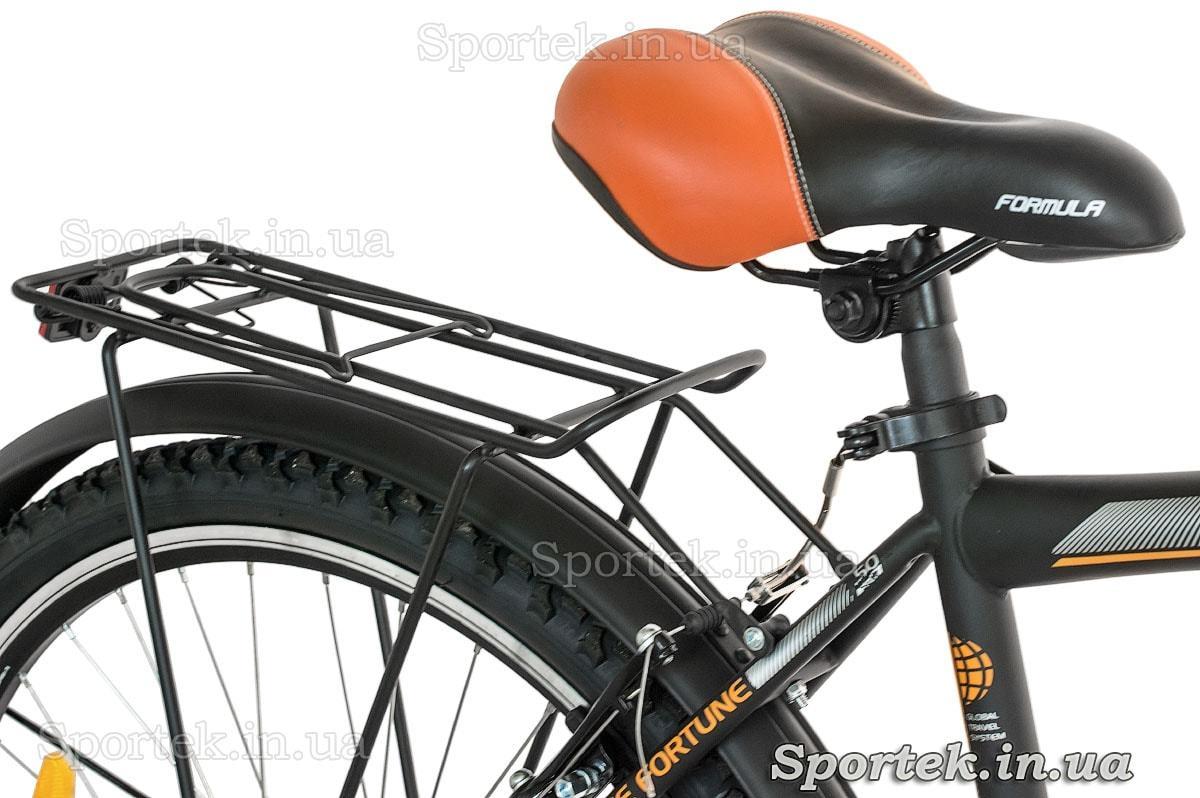 Седло и багажник городского мужского велосипеда Formula Magnum (Формула Магнум)